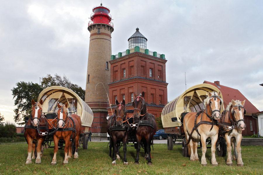 Kutschfahrten nach Kap Arkona auf Rügen mit dem Reiterhof Schwarbe
